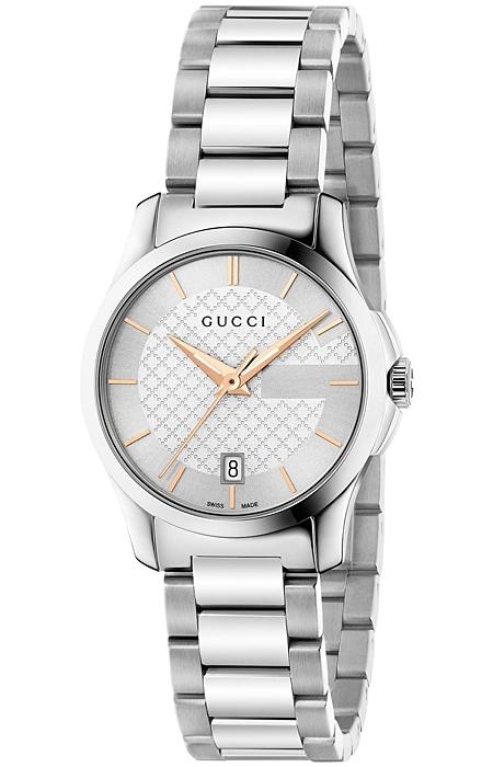 efeb5283f17 Gucci G-Timeless Small Steel Bracelet Womens Watch YA126523