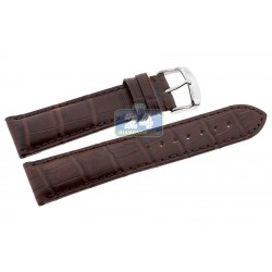 Hadley Roma Matte Brown Genuine Alligator Leather Watch Strap MS824