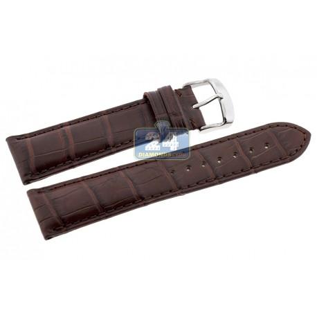 Hadley Roma Matte Brown Genuine Alligator Leather Watch Strap MS824