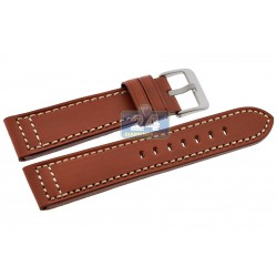 Hadley Roma Tan Genuine Saddle Leather Watch Band 22 mm MS851