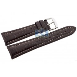 Hadley Roma Brown Calfskin Leather Watch Band 22 mm MS895