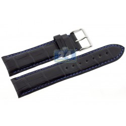 Hadley Roma Blue Stitch Alligator Leather Watch Band 22 mm MS2024