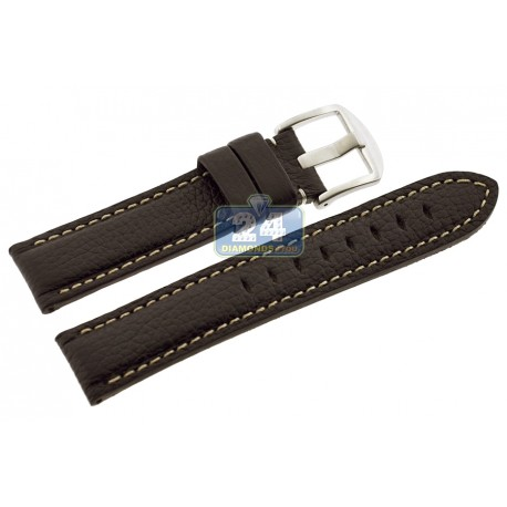 Hadley Roma Brown Calfskin Leather Watch Band 20 mm MS2036