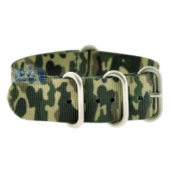 Hadley Roma Military Camo Nylon One Piece Watch Strap MS4200