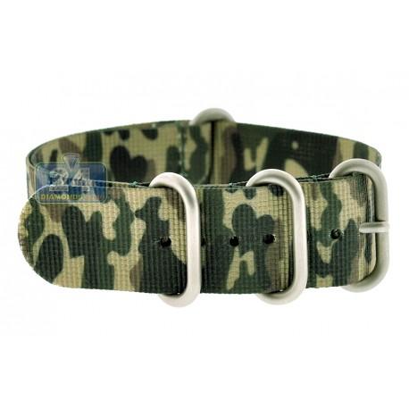 Hadley Roma Military Camo Nylon One Watch Band 22 mm MS4200