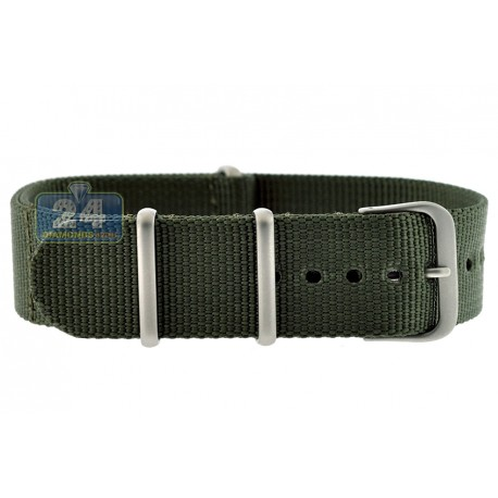 Hadley Roma Green Nylon One Piece Watch Band 20 mm MS4210