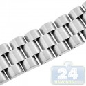 Hadley Roma Satin Wide Link Steel Watch Band MB9036-W