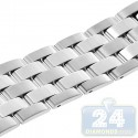 Hadley Roma Solid Link Steel Watch Band MB4436-W