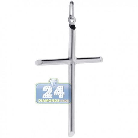 Italian 925 Sterling Silver Large Latin Cross Mens Pendant