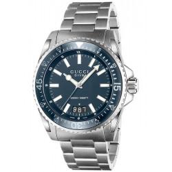Gucci Dive Blue Dial Steel Bracelet Mens Watch YA136203