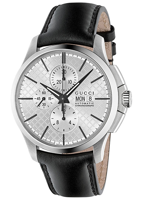 92c0eaddfc0 Gucci G-Timeless Automatic Chrono Leather Mens Watch YA126265