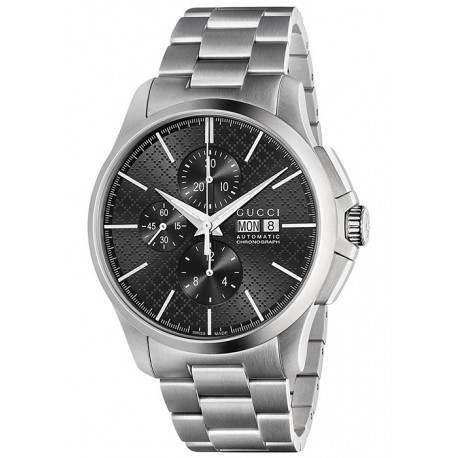 Gucci G-Timeless Automatic Chrono Steel Mens Watch YA126264