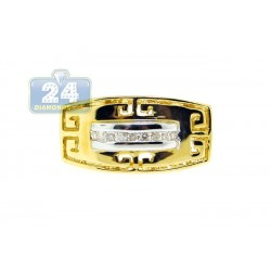 14K Yellow Gold 0.14 ct Diamond Womens Antique Ring