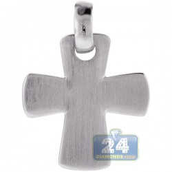 Italian Sterling Silver Maltese Cross Mens Pendant