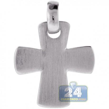 Italian Sterling Silver Maltese Cross Mens Religious Pendant