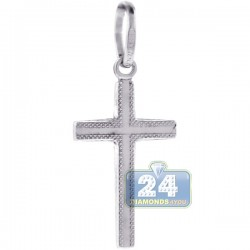 Mens Womens Classic Religious Cross Pendant Sterling Silver