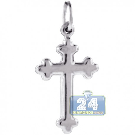 Mens Womens Gothic Cross Religious Pendant Sterling Silver