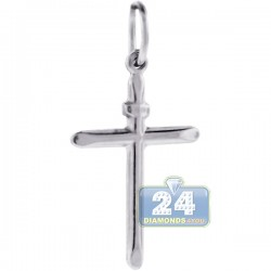 925 Sterling Silver Smooth Classic Cross Mens Pendant