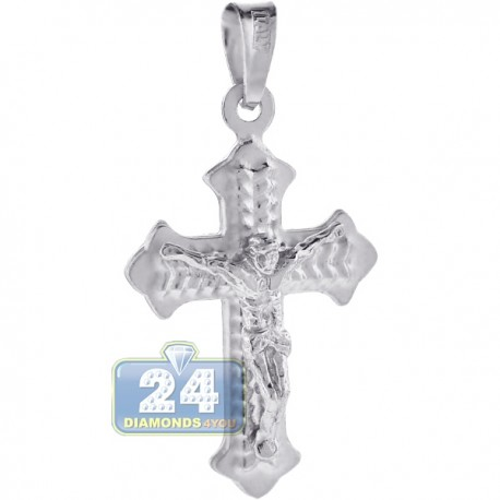 Mens Crucifix Gothic Cross Pendant Solid 925 Sterling Silver