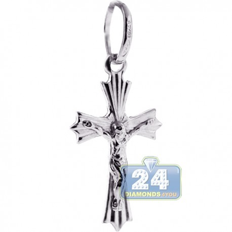 Mens Womens Gothic Crucifix Cross Pendant Sterling Silver