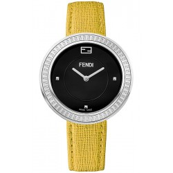 Fendi My Way Steel Yellow Leather 36 mm Watch F350031051