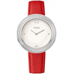 Fendi My Way Steel Red Leather 36 mm Watch F350034073