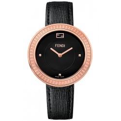 Fendi My Way Rose Gold Black Leather 36 mm Watch F350531011