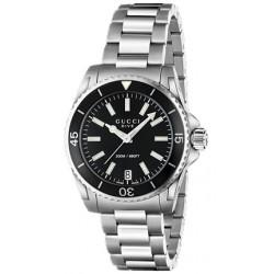 Gucci Dive Black Dial Womens Steel Bracelet Watch YA136403