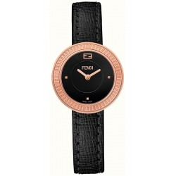Fendi My Way Rose Gold Black Leather 28 mm Watch F350521011