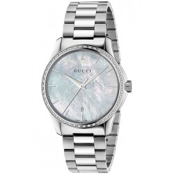 Gucci G-Timeless 38 mm Diamond Steel Unisex Watch YA126444