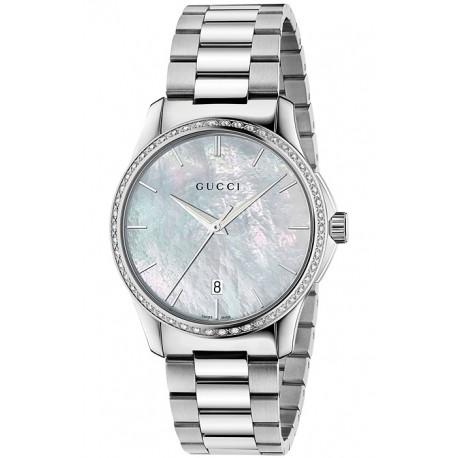 Gucci G-Timeless 38 mm Diamond Steel Unisex Watch YA126444