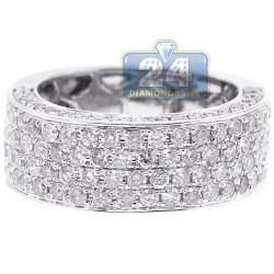 18K White Gold 2.50 ct Diamonds Half Way Womens Wedding Band Ring