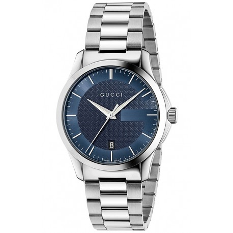 Gucci G-Timeless 38 mm Blue Dial Steel Unisex Watch YA126440