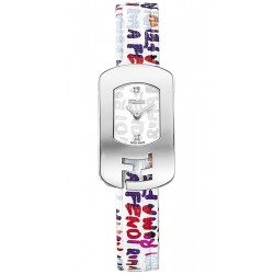 F302024047D1 Fendi Chameleon Multicolor Graffiti White Dial Watch 18mm
