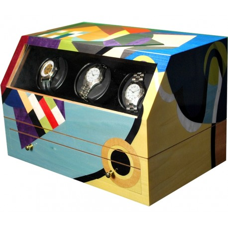 Double Watch Winder Orbita Ercolano Kandisky ERCOLAN200
