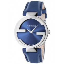 Gucci Interlocking 37 mm Blue Dial Womens Watch YA133322