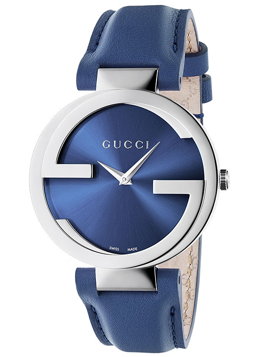 b586d3cac64 Gucci Interlocking 37 mm Blue Dial Womens Watch YA133322