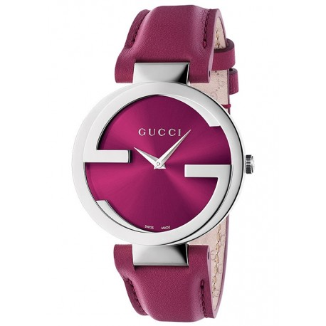 Gucci Interlocking 37 mm Pink Womens Steel Watch YA133321
