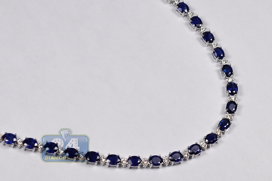 gemstone necklace sapphire of blue kind product silver a one rough