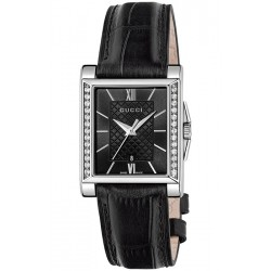 Gucci G-Timeless Rectangle Diamond Womens Watch YA138505