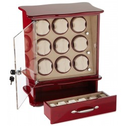 Diplomat Estate Cherry Wood Nine Watch Winder 31-420