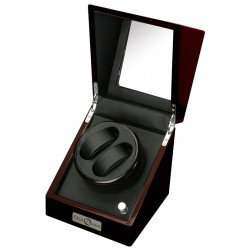 Diplomat Gothica Ebony Wood Double Watch Winder 31-423