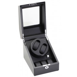 Diplomat Gothica Black Wood Double Watch Winder 31-424