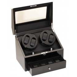 Diplomat Gothica Black Wood Quad Watch Winder 31-425