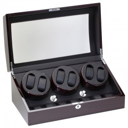 Diplomat Gothica Ebony Wood Six Watch Winder 31-427