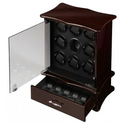 Diplomat Gothica Ebony Wood Nine Watch Winder 31-429