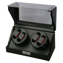 Diplomat Gothica Carbon Fiber Quad Watch Winder 31-476
