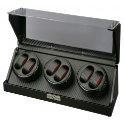 Diplomat Gothica Carbon Fiber Six Watch Winder 31-477