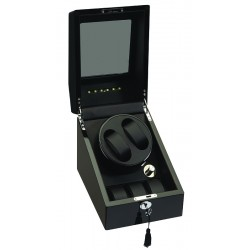 Diplomat Phantom Black Wood Double Watch Winder 34-510