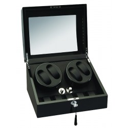 Diplomat Phantom Black Wood Quad Watch Winder 34-511
